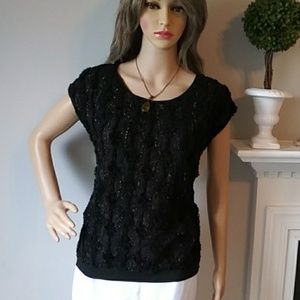 Collective Concepts black blouse sparkly